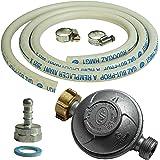 PROWELTEK 37600120106866 Kit Connexion Tuyau 1,50M+Tétine+Détenteur Butane, Blanc, 23x24x7 cm