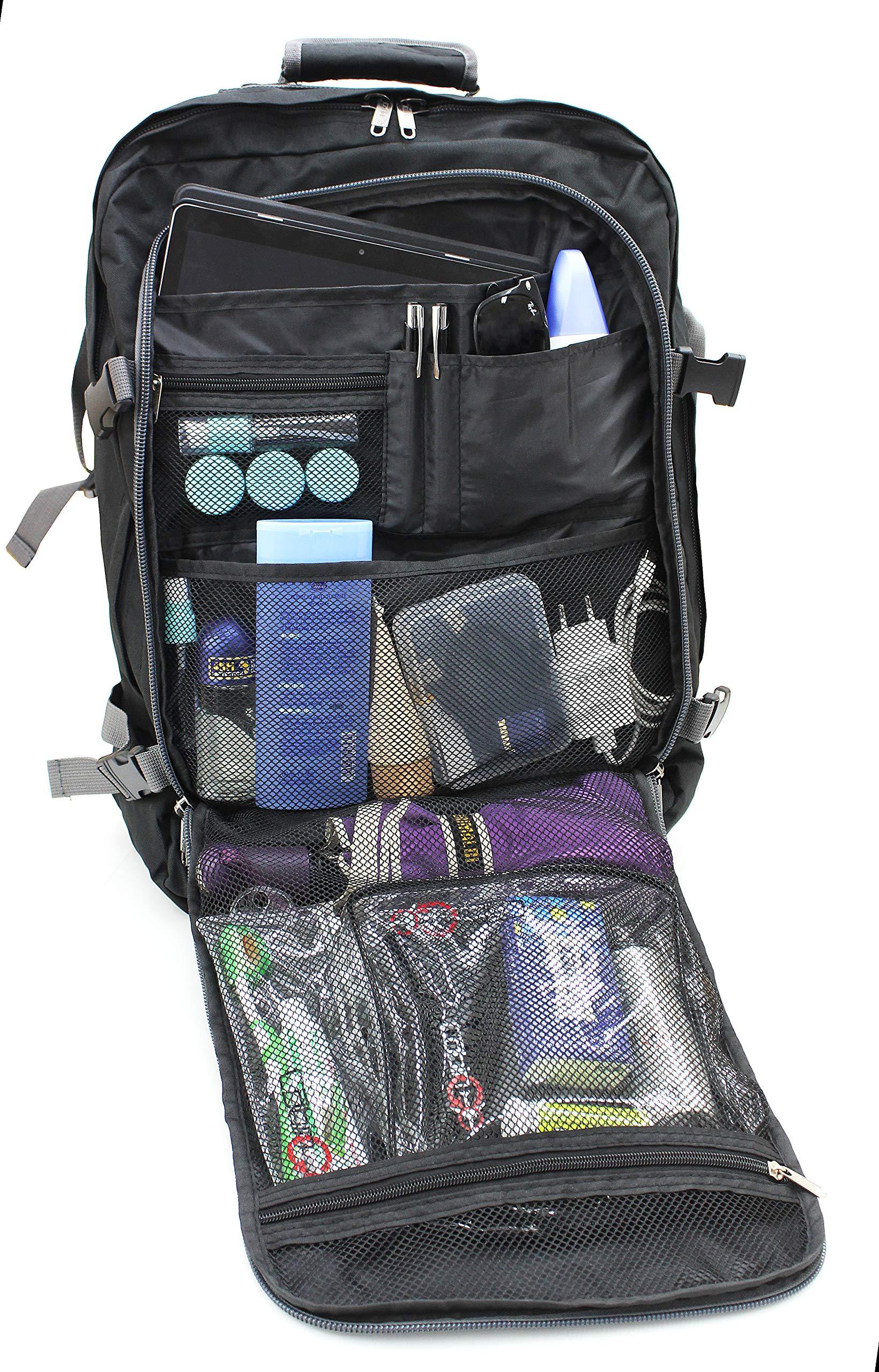 rivenditore di vendita 13aff 29cff CABIN GO cod. MAX 55 trolley - Zaino bagaglio a mano/cabina da viaggio  leggero. - 55 x 40 x 20 cm, 44 litri - con ruote. Approvato volo ...