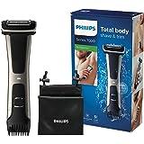 Philips Serie 7000 BG7025/15 - Afeitadora corporal con cabezal de recorte y de afeitado, 80 minutos de uso, apta para la duch