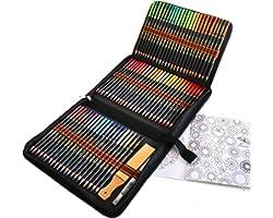 72 Crayons de Couleur Aquarellable, Set de Crayon Aquarelle pour Adultes et Enfants des mélanges et des superposer, idéal pou
