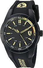 Ferrari Men's 'Redrev' Quartz Black Casual Watch (Model: 0830302)