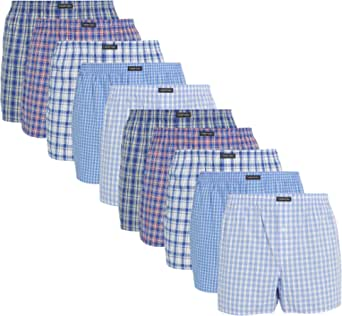 Lower East Multipacks: American Style Cotton Boxer Shorts for Men in Packs of 6 or 10