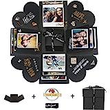 Hbsite Explosion Box Sorpresa DIY Scatola Mano per Esplosione di Foto Fatte a Mano Amore Memoria Scrapbooking Confezione Rega