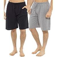Tom Franks Mens Pack Two Shorts - Cotton Sleepwear Lounge Wear Pyjama Shorts