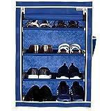 Amazon Brand - Solimo Shoe Rack, 4 Racks, Blue