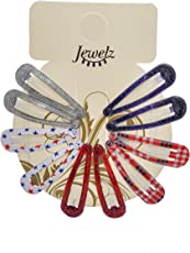 Jewelz Multicolour Tic Tac Hair Clips for Girl's - Pack of 5
