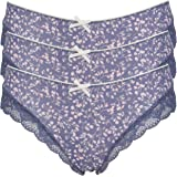 Ex Store Brazilian Knickers with Sheer Lace Back