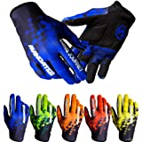 Cycling Gloves Full Finger Touch Screen Motorcycle/Mountain Road Bike Exercise Gloves Unisex All Finger Gloves Sun and Windpr