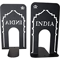 HeavenlyKraft Office Bookends Library Bookend India Gate Design Metal Bookends for Office & Library, Black Color, 7 Inch…