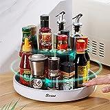 Skroad Lazy Susan Étagère à épices rotative multifonction pour le rangement de la cuisine, support rotatif pour condiments et