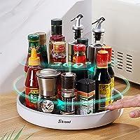 Skroad Lazy Susan Étagère à épices rotative multifonction pour le rangement de la cuisine, support rotatif pour…