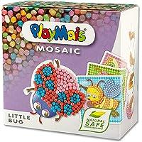 PlayMais Mosaic Little Bug Kreativ-Set zum Basteln für Kinder ab 3 Jahren | Über 2.300 Stück & 6 Mosaik Klebebilder mit…
