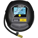 Ring Automotive Ring RTC1000 12V Rapid Preset Digital, Air Compressor Pump, 2 min Tyre Inflation, LED Light, Carry Case, Valv