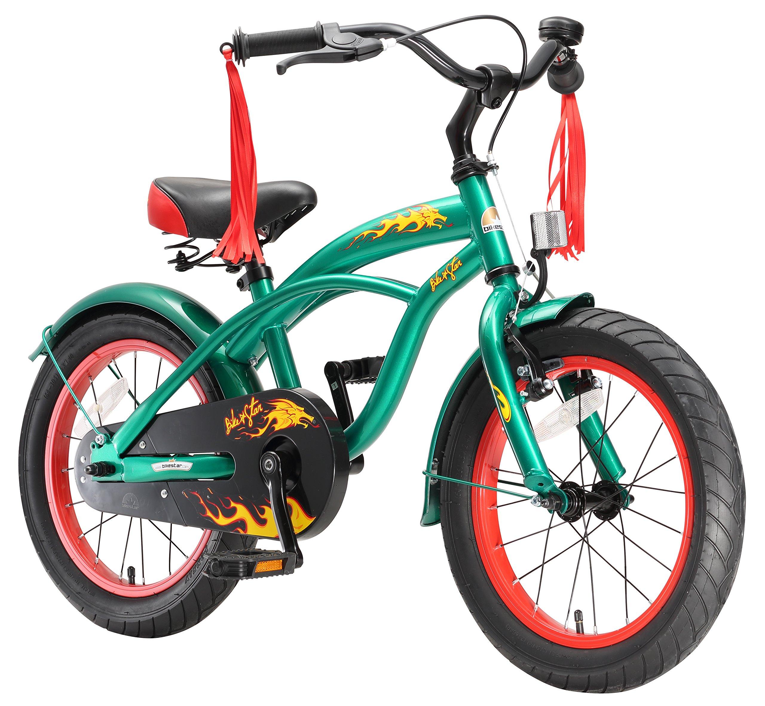 BIKESTAR® Premium Design Bicicletta per Bambini mitico! Giù 4 anno ? Edizioni 16ª Deluxe Cruiser ? C