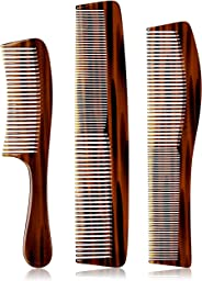 Amazon Brand - Solimo Set of 3 Combs