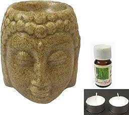 CRAFT ART INDIA- Regular Ceramic Diffuser/Scented Aroma Oil Burner/Fragrance Vapourizer {Size(Inch):3.44x2.95x2.95/CHD812}