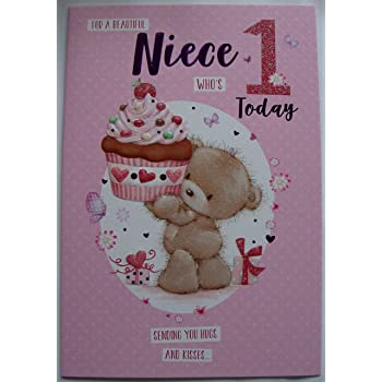 Niece 1st Birthday Card Gr 206136 Pink Number 1 Fairy And