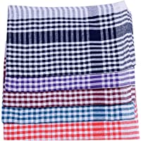Akhil Kitchen Napkin Duster Wet Dry Cotton Cleaning Cloth , Multicolor - Pack of 12