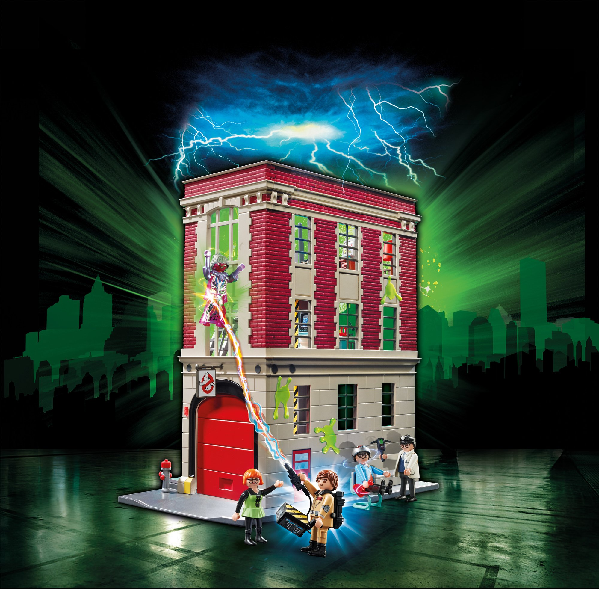 Playmobil 9219 Caserma dei Ghostbusters & 9221 Omino Marshmallow E Stantz 4 spesavip