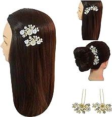 VOGUE Hair Accessories Hair Pins for Women, Gold, 6-Cm Diameter