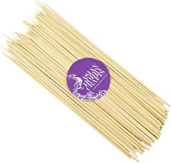 Asian Hobby Crafts Satay Sticks Bamboo Skewers (100 Pieces, 10-inch)