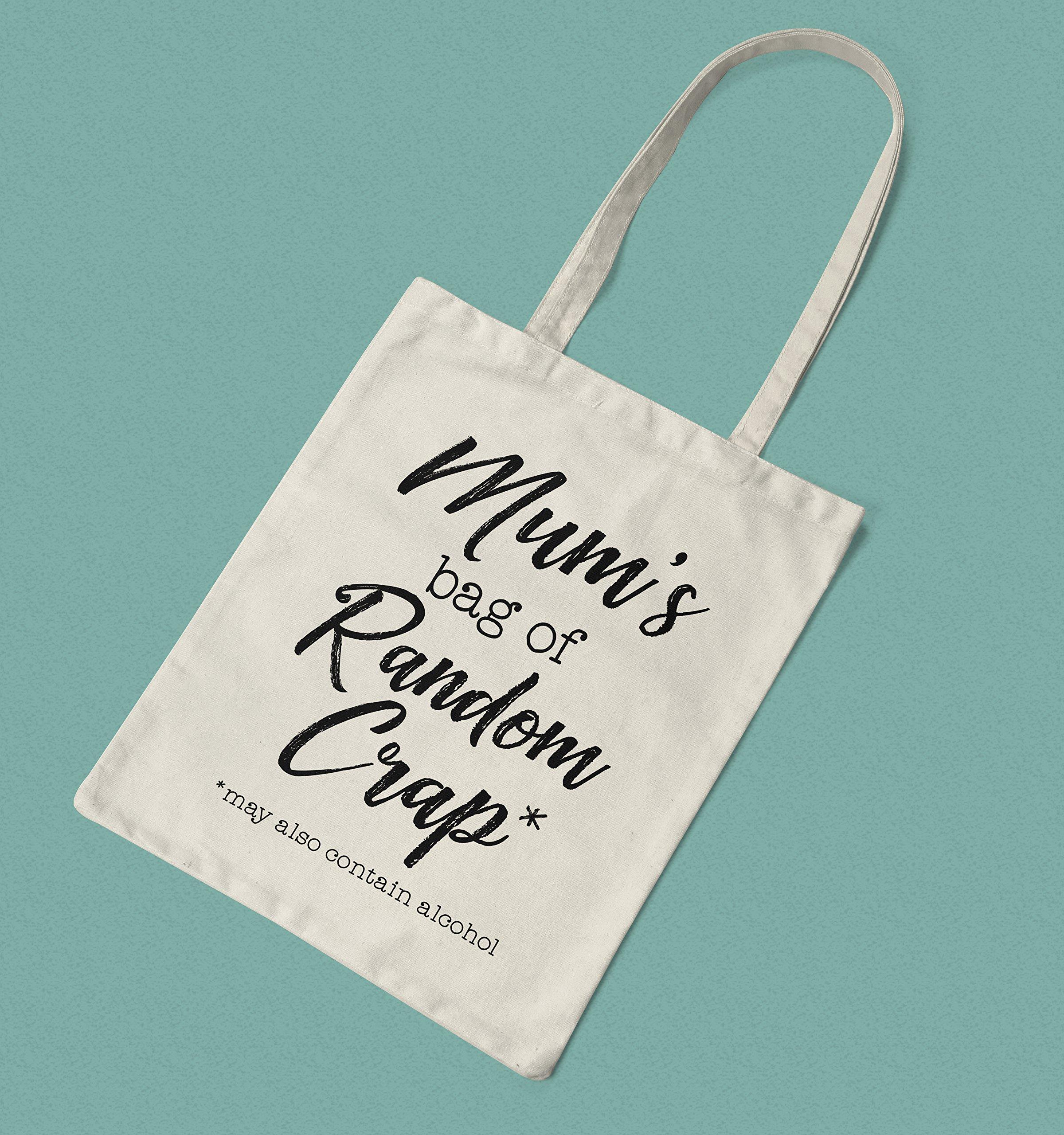 Gift for Mum - Mum's Bag of Random Crap Canvas Tote - handmade-bags