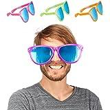 Relaxdays Party Glasses, Blue XXL Party Favour, Fancy Dress Accessories, Halloween, Mardis Gras, Plastic, 25 cm Wide, Various