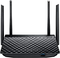 Asus RT-AC58U AC1300 802.11ac MU-MIMO WLAN Dual-Band Gigabit Router (Multifunktion USB 3.0, Gastnetzwerke, AiRadar, App Steuerung)
