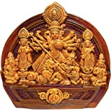 ESVAR STONECRAFT Maa Durga JI Idol | MATA Durga Terracotta Wall Hanging Home Decorative | Maa Durga Murti Showpiece | for Gif