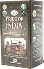 PRIDE OF INDIA Organic Digestive Oolong Tea, 25 Bags