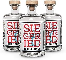 Siegfried Rheinland Dry Gin (3 x 0.5l) - vielfach mit Gold ausgezeichneter deutscher Premium Gin