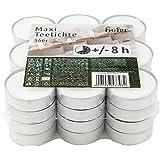 Hofer Bougies Chauffe-plat Maxi Grandes - 36 pièces - 8 heures de combustion - Cire non parfumée, sans gouttes, longue durée,