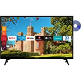 Telefunken XH24J501D 24 inch televisie (Smart TV incl. Prime Video/Netflix/YouTube, HD ready, DVD-speler, Works with Alexa, T