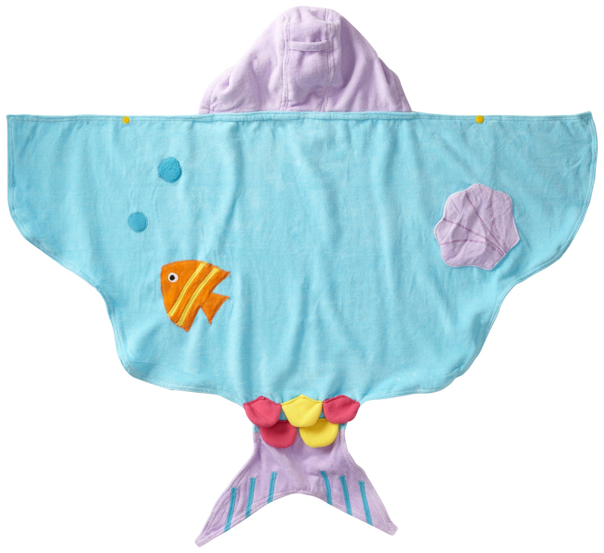 Kidorable - Toalla con capucha para niñas con cola de pescado y conchas 2