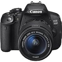 Canon EOS 700D SLR-Digitalkamera (18 Megapixel, 7,6 cm (3 Zoll) Touchscreen, Full HD, Live-View) Kit inkl. EF-S 18-55mm…