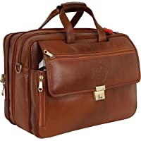 Da Leather Villa 17 Inch Laptop Briefcase Bag for Men |15.6'' Laptop Compartment| |Expandable Features| |High Security…