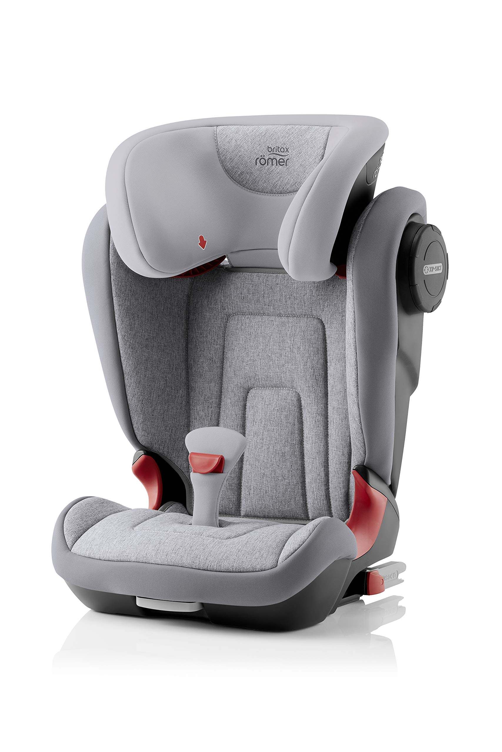 Britax Römer KIDFIX² S Group 2-3 (15-36kg) Car Seat - Grey Marble  Advanced side impact protection - sict offers superior protection to your child in the event of a side collision. reducing impact forces by minimising the distance between the car and the car seat. Secure guard - helps to protect your child's delicate abdominal area by adding an extra - a 4th - contact point to the 3-point seat belt. High back booster - protects your child in 3 ways: provides head to hip protection; belt guides provide correct positioning of the seat belt and the padded headrest provides safety and comfort. 1