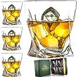 Amerigo Premium Set Di 4 Bicchieri Da Whisky In Confezione Regalo Di Lusso - Twist Bicchieri Da Whisky 12oz Per Scotch - Rega