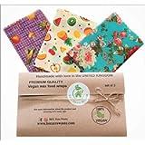 Plant based vegan Wax wraps, BEE Zero Waste, Random colours, GOTS organic cotton, alternative to cling film, sustainable…