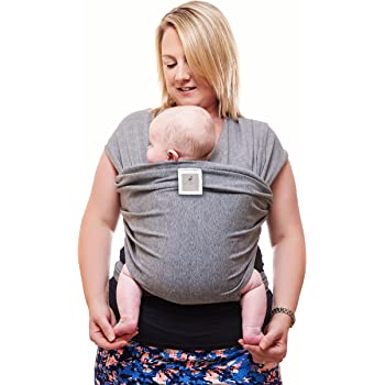 Premium Baby Carrier   Neutral Grey   One Size Fits All   Cozy & Soothing For Babies   Suitable for Newborns, Infants & Toddlers   Cotton/Spandex Comfort Fabric  100% Infinity Guarantee   Ideal Gift