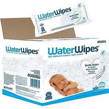 WaterWipes Baby Wipes Sensitive Newborn Skin, 1080 Wipes (18 Packs of 60 Wipes)