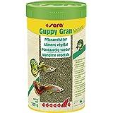 Sera Guppy Gran Alimento de Plantas o pienso Vegetal para Peces, granulado Blando de Lento hundimiento para Guppy, Espada, Pl