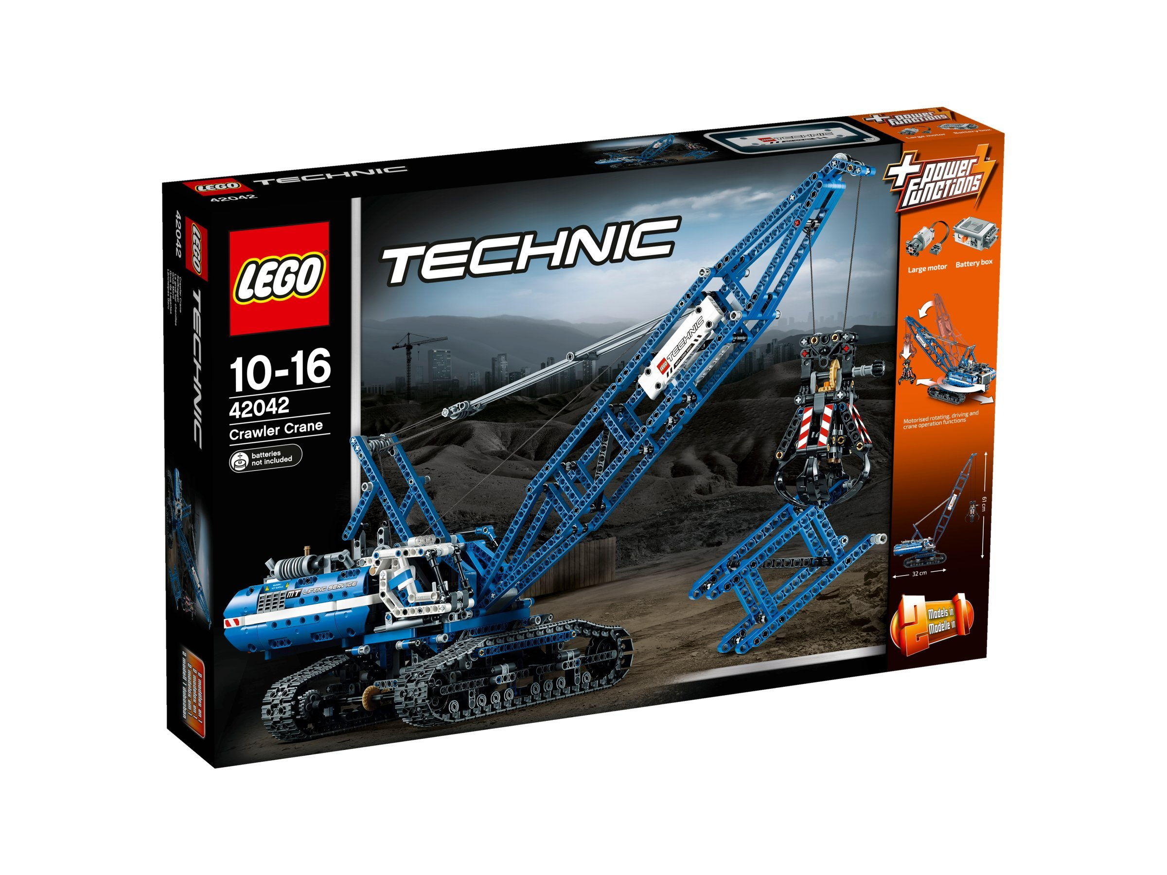 LEGO Technic 42042 – Seilbagger mit Seilwinde, Power Functions