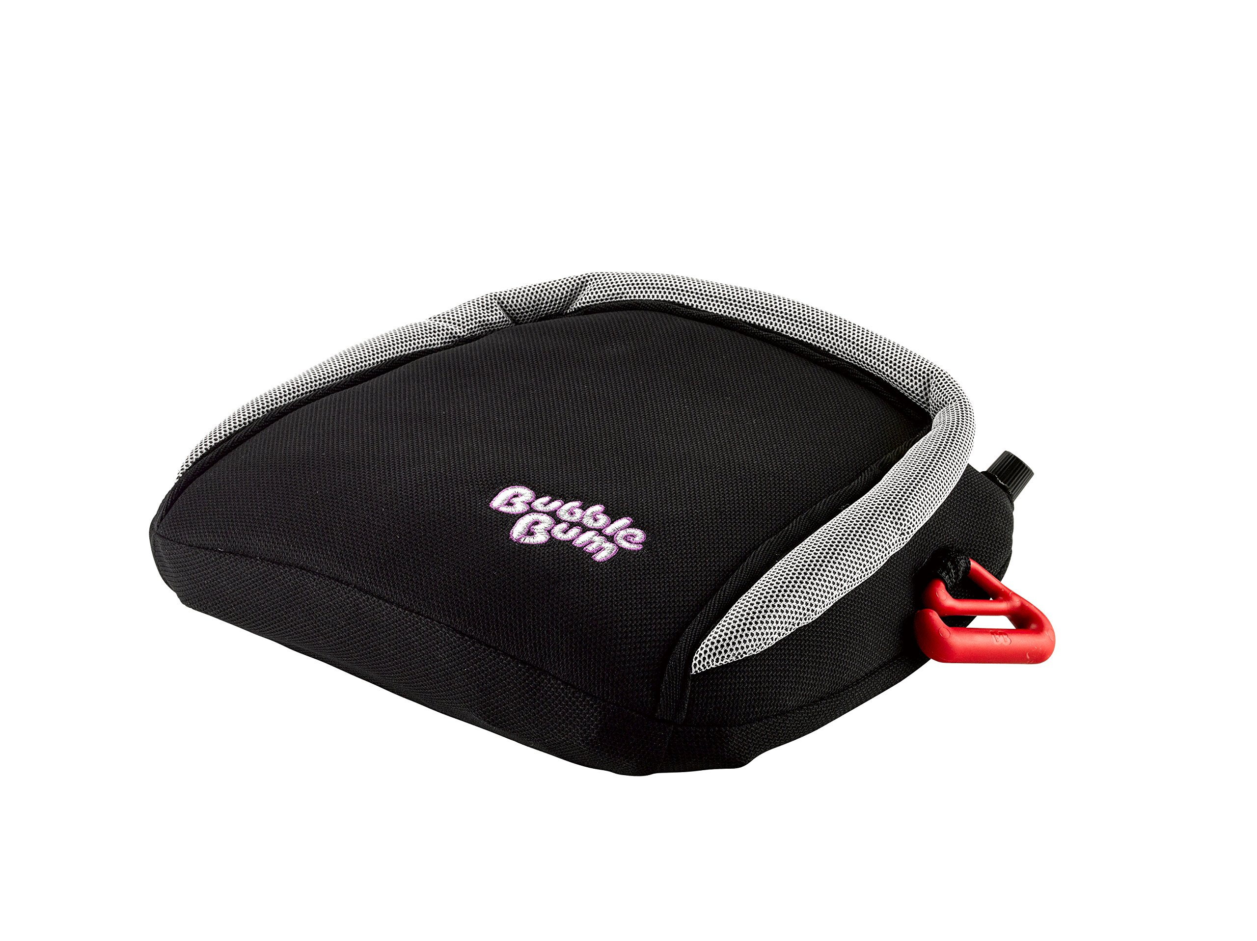 BubbleBum Inflatable Travel Car Booster Seat, Group 2/3, Black  The Award Winning BubbleBum Car Booster Seat The Inflatable, portable & safe booster seat for children aged 4 - 11, 15 - 36kg (with the provision of a vehicle headrest) Approved to the EU Safety Standard R44.04 for both Groups 2 and 3. Dimension - When inflated the seat measures 11 x11 x 4.5 Inches.  When deflated the seat measures 11.8 x 5.9 x 3.9 Inches.  Tip - ideal as you can now fit three across the back 1