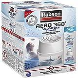 Rubson Aéro 360° luchtontvochtiger voor badkamer, luchtontvochtiger en condensatie, 1 apparaat + 1 navulverpakking van 450 g