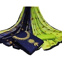 Varni Fab Salwar Suit Dress Material Cotton Khatli Handwork With Banarasi Jacquard Dupatta For Women And Girls (RADHE…