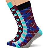 HS by Happy Socks HS Argyle 3-Pack Socks, Calcetines para Hombre