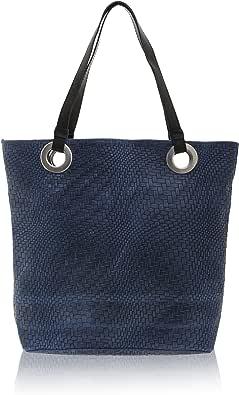 Chicca Borse - Shoulder Bag Borsa a Spalla da Donna Realizzata in Vera Pelle Made in Italy - 40 x 34 x 10 Cm
