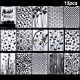 15 Pièces Dossiers de Gaufrage 5,7 x 4,2 Pouces Modèle de Carte de Gaufrage de Noël en Plastique pour Fabrication de Cartes e