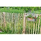 STILTREU Staketenzäune Staketenzaun Kastanie Höhen 50 cm - 200 cm, 5 Meter Rolle, 3 versch. Lattenabstände (Länge x Höhe: 500 x 100 cm, Lattenabstand: 4-6 cm)